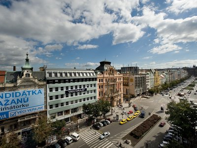 EA Hotel Julis**** - view from the hotel - Wenceslas Square