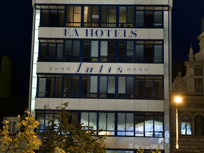 EA Hotel Julis**** - neon logo on the hotel roof