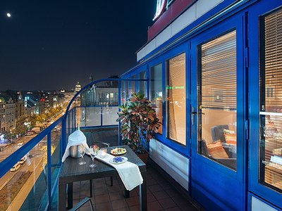 EA Hotel Julis**** - executive room no. 805 balcony overlooking Wenceslas Square